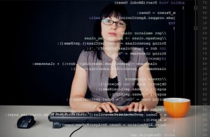 woman attending instructor led training for programmers